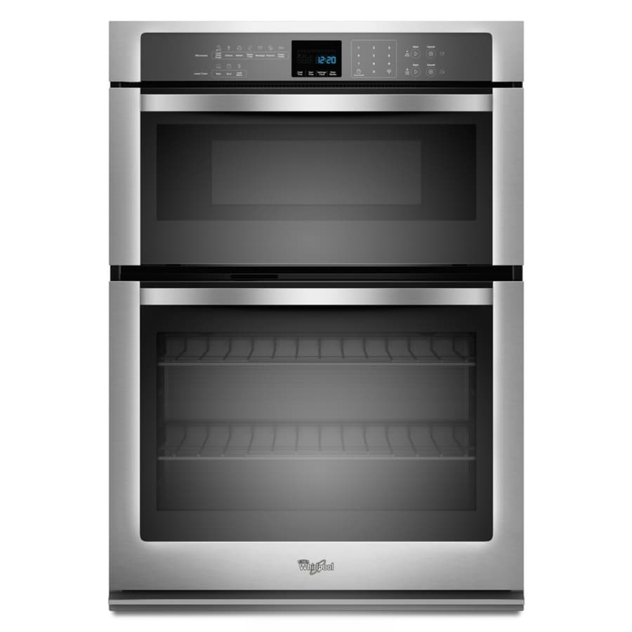 Whirlpool Self-Cleaning Microwave Wall Oven Combo (Stainless Steel) (Common: 30-in; Actual: 30-in)