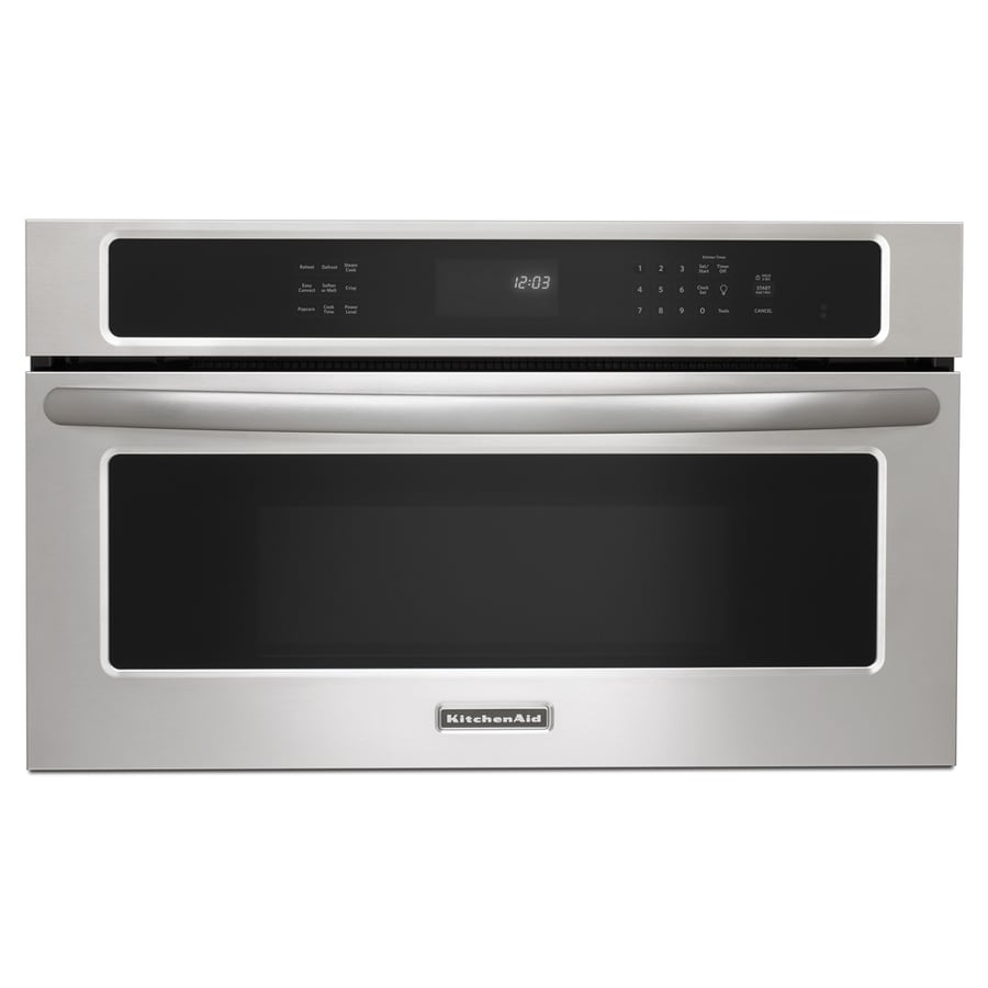 KitchenAid Architect 1.4-cu ft Built-In Convection Microwave with Sensor Cooking Controls (Stainless Steel)