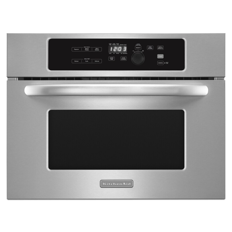 KitchenAid Architect 1.4-cu ft Built-In Microwave with Sensor Cooking Controls (Stainless Steel)