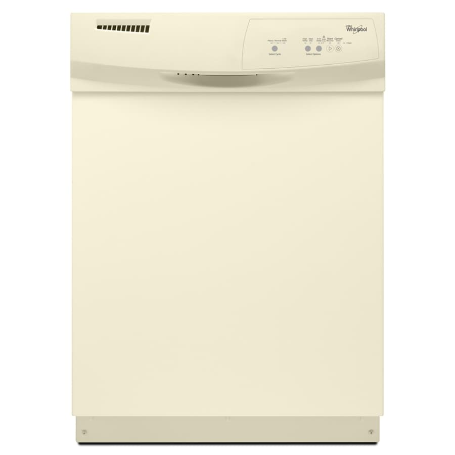 Whirlpool 59-Decibel Built-In Dishwasher (Biscuit) (Common: 24-in; Actual: 23.875-in)