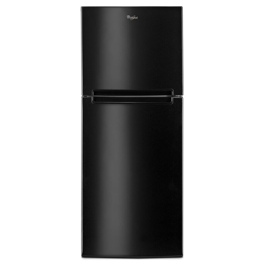 Whirlpool 10.72-cu ft Top-Freezer Refrigerator (Black)