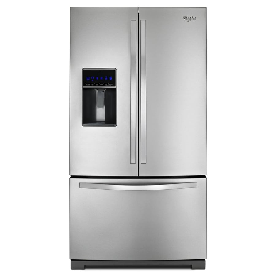 shop whirlpool 24 7 cu ft 3 door french door refrigerator. Black Bedroom Furniture Sets. Home Design Ideas