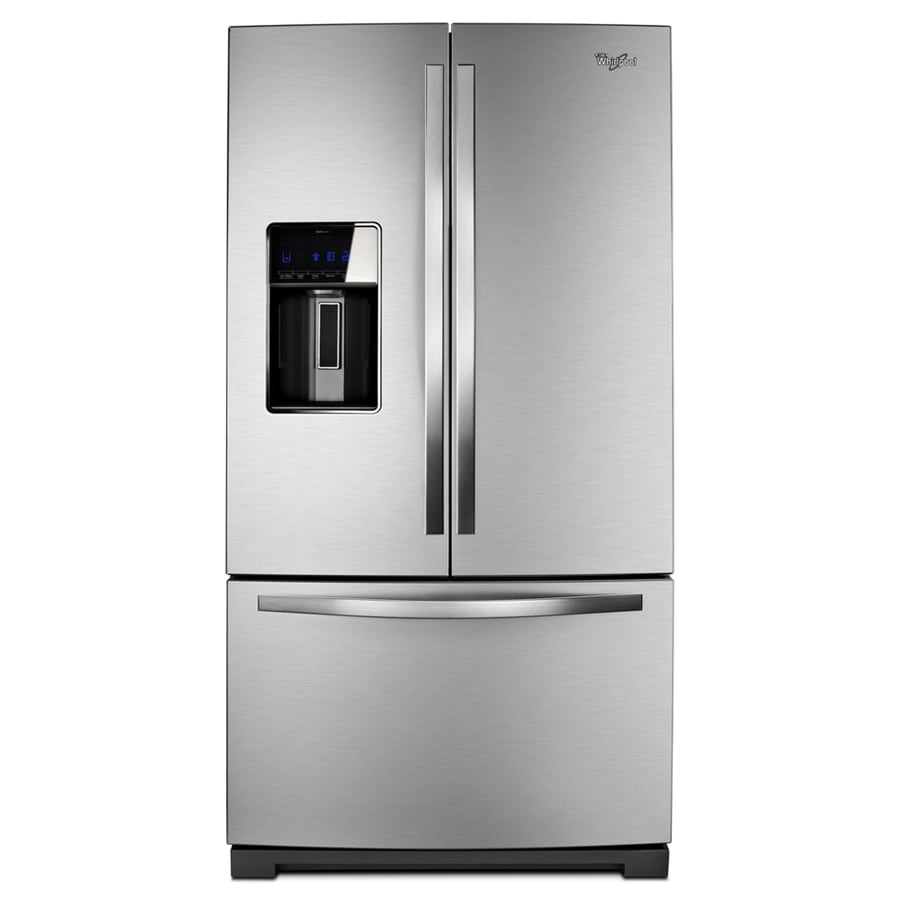 Whirlpool 26.8-cu ft French Door Refrigerator with Single Ice Maker (Mono Satina Steel)