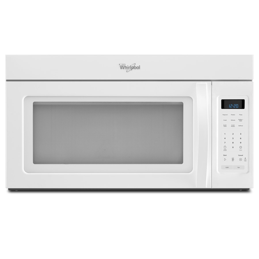 Whirlpool 1 7 Cu Ft Over The Range Microwave White Common