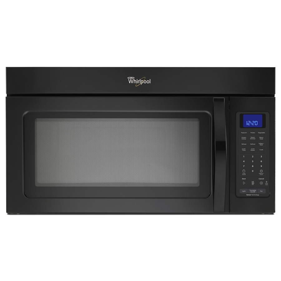 Whirlpool 1.7-cu ft Over-The-Range Microwave with Sensor Cooking Controls (Black) (Common: 30-in; Actual: 29.93-in)