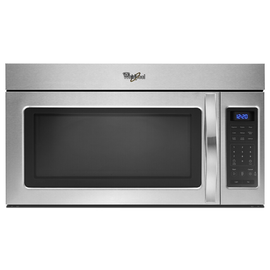 Whirlpool Over Oven Microwave: Shop Whirlpool 1.7-cu Ft Over-The-Range Microwave