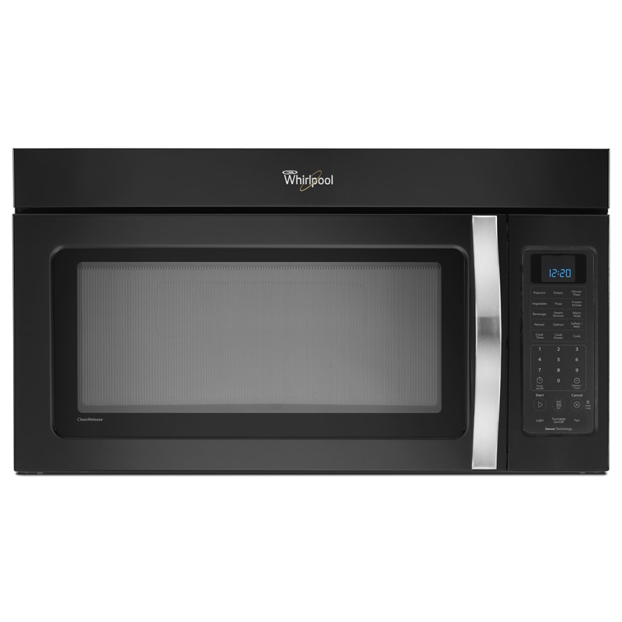 Whirlpool 2-cu ft Over-the-Range Microwave with Sensor Cooking Controls (Black ice) (Common: 30-in; Actual: 29.938-in)