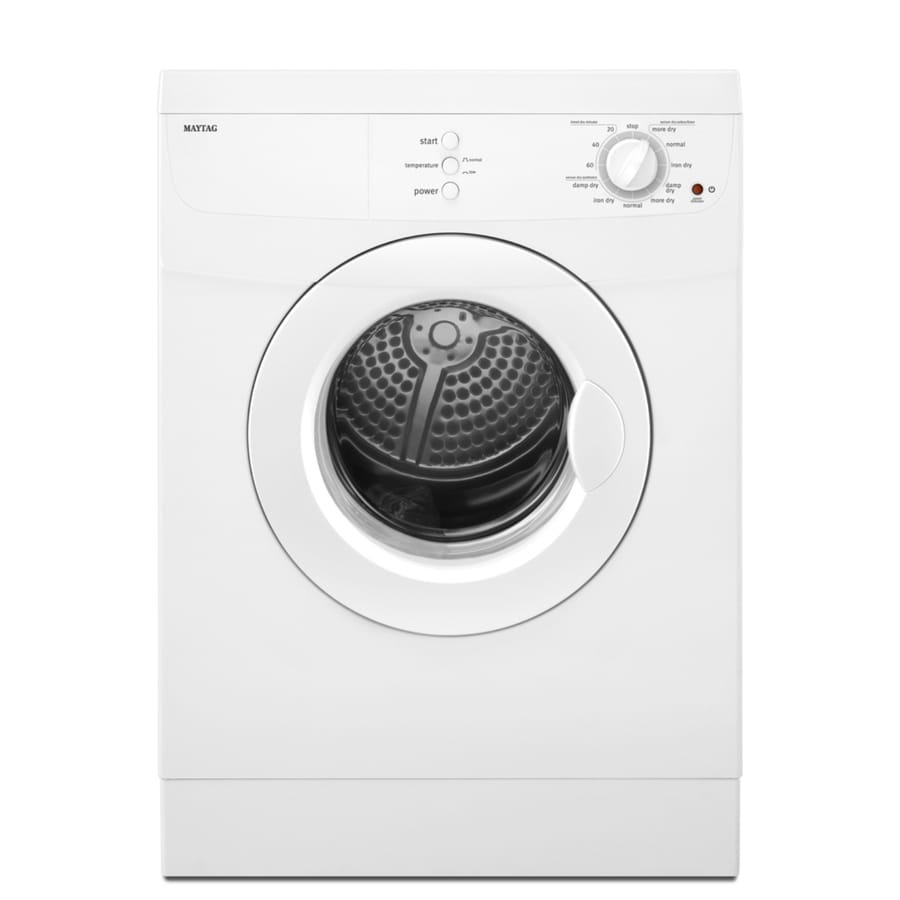 Maytag 3.8-cu ft Stackable Electric Dryer (White)