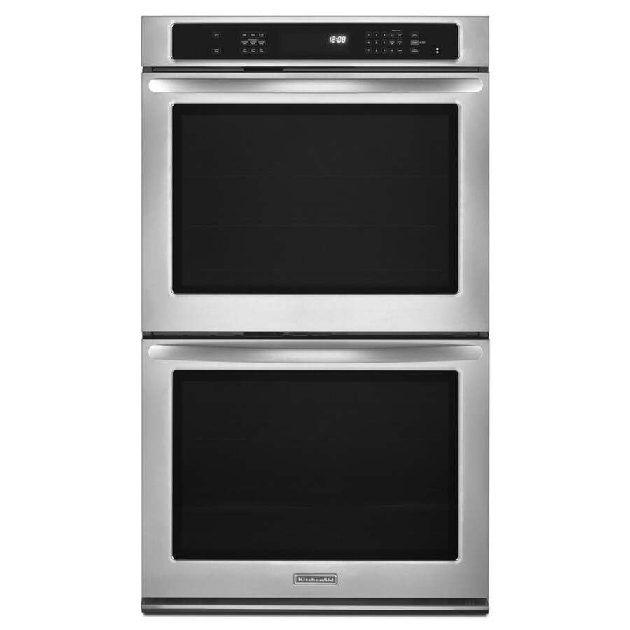 KitchenAid Architect II Convection Double Electric Wall Oven (Stainless  Steel) (Common: 30