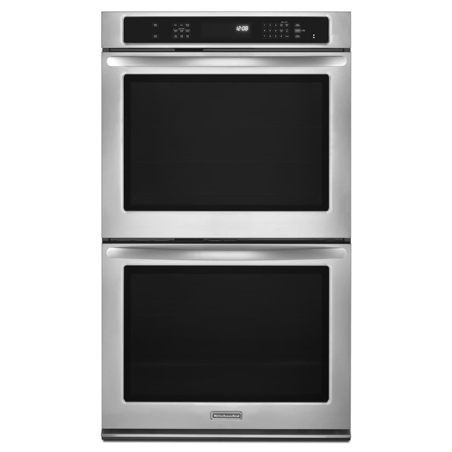 KitchenAid Architect II Self-Cleaning Convection Double Electric Wall Oven (Stainless Steel) (Common: 30-in; Actual 30-in)
