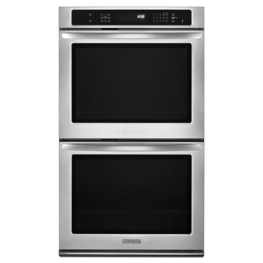 KitchenAid Architect II Self-Cleaning Convection Double Electric Wall Oven (Stainless Steel) (Common: 27-in; Actual 27-in)