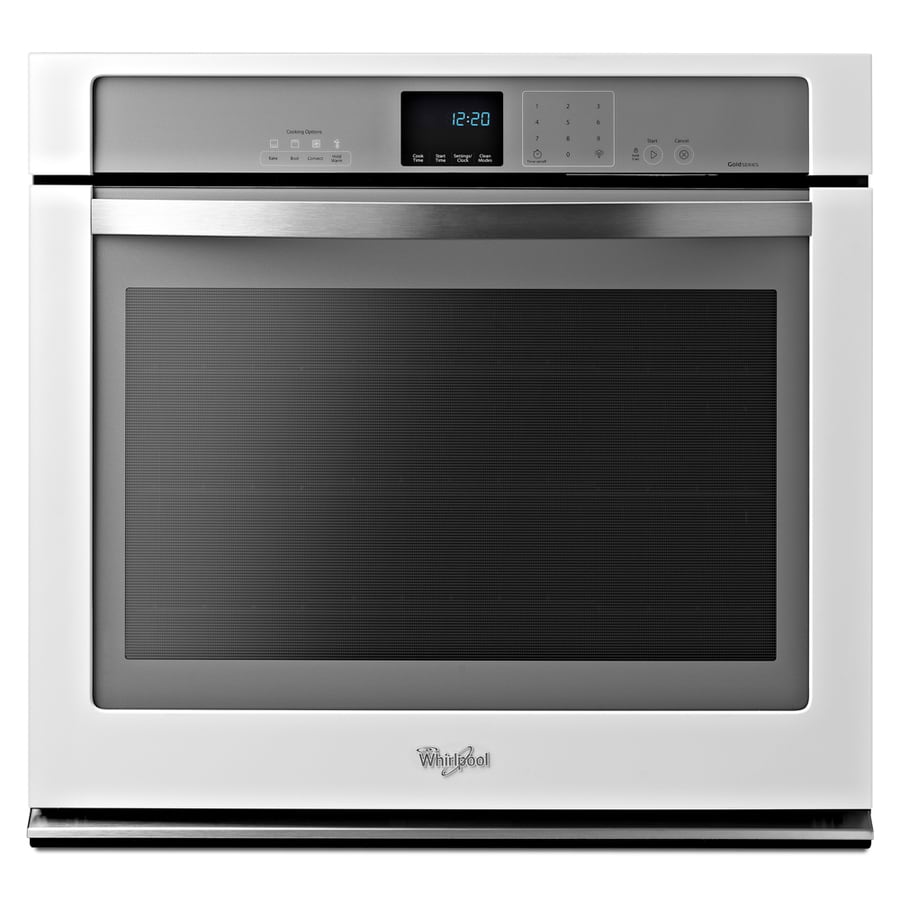 Whirlpool White Ice Self-Cleaning Convection Single Electric Wall Oven (White) (Common: 30-in; Actual 30-in)