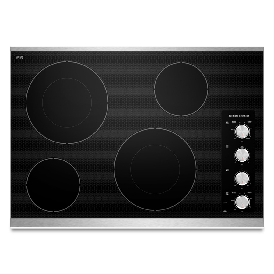 KitchenAid Smooth Surface Electric Cooktop (Stainless Steel) (Common: 30-in; Actual 30.813-in)