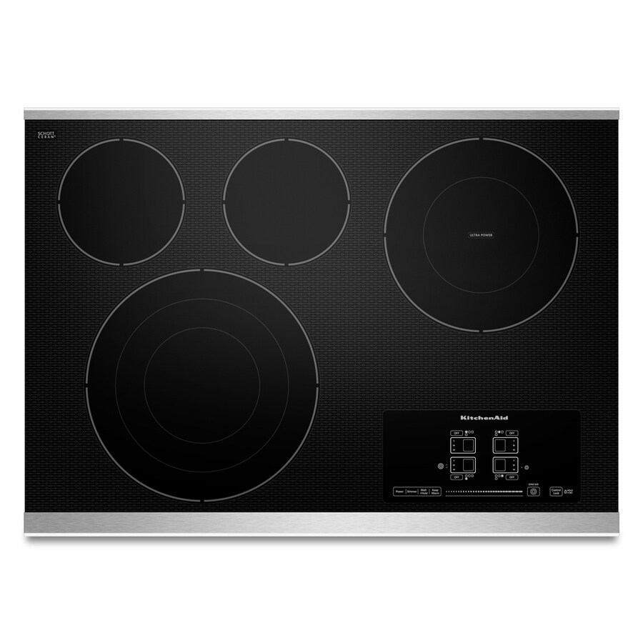 Kitchenaid Electric Cooktop ~ Shop kitchenaid smooth surface electric cooktop stainless