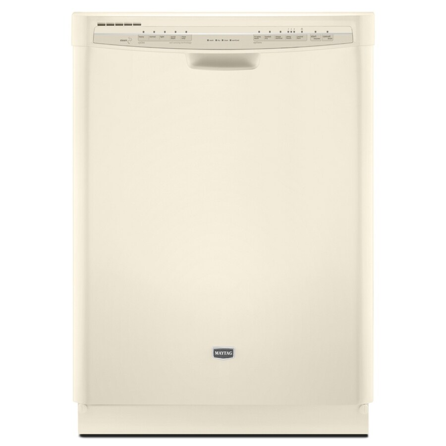 Maytag 24-in 57-Decibel Built-in Dishwasher with Hard Food Disposer (Bisque) ENERGY STAR