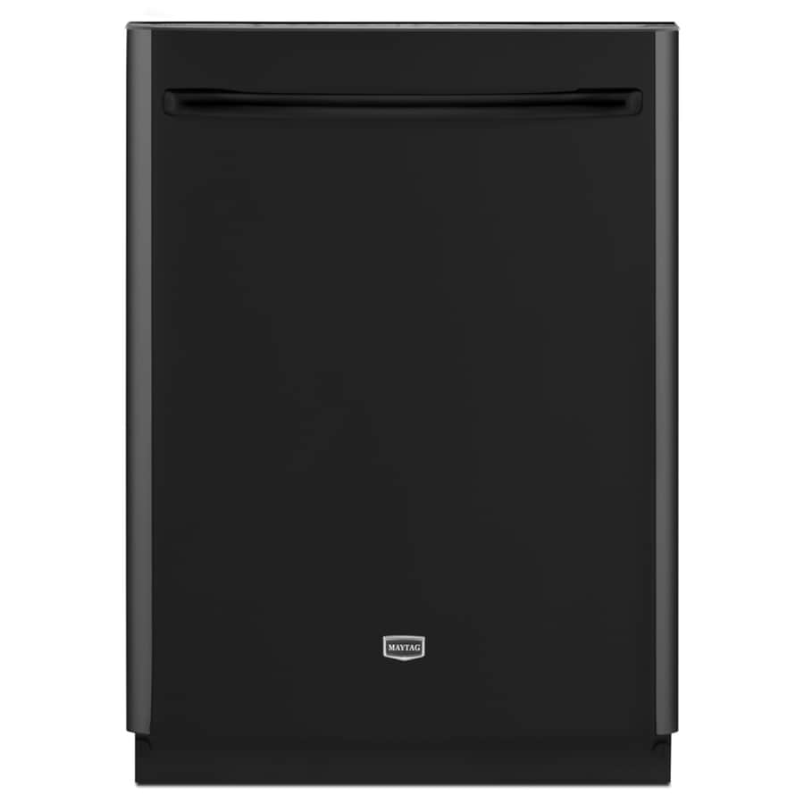 "Maytag 24"" Built-In Dishwasher with Hard Food Disposer (Black) ENERGY STAR"