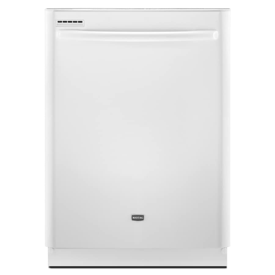 Maytag 24-in Built-In Dishwasher with Hard Food Disposer (White) ENERGY STAR