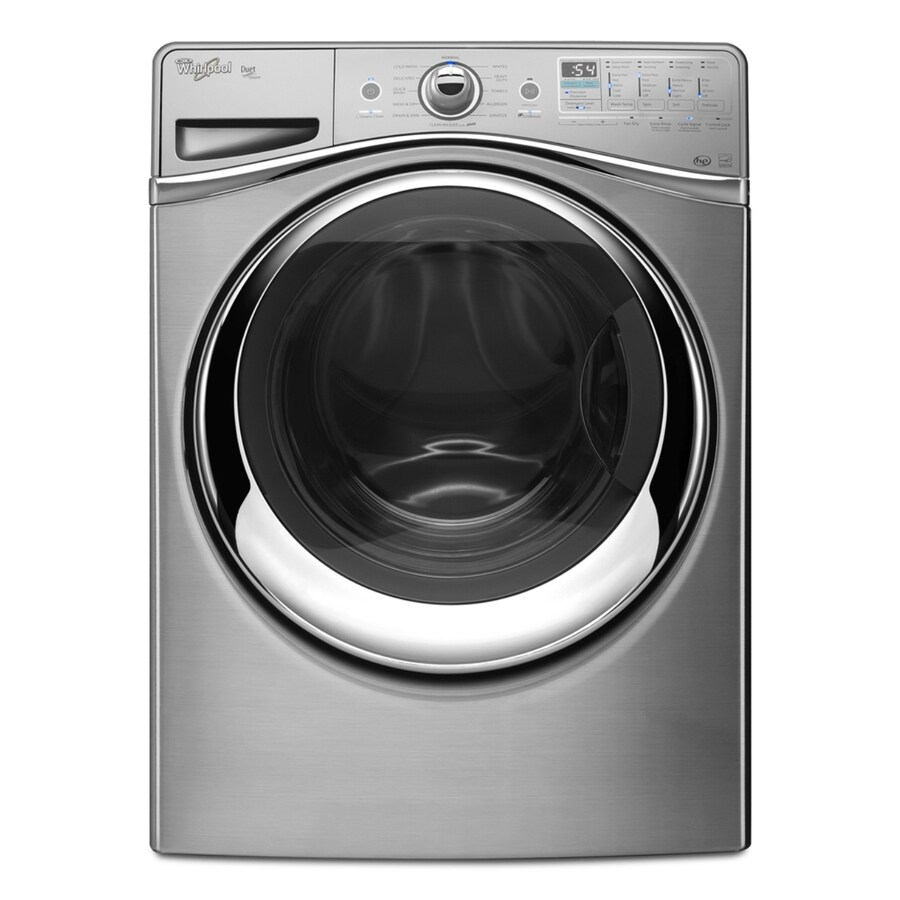 Whirlpool Duet 4.3-cu ft High-Efficiency Front-Load Washer with Steam Cycle (Stainless Look) ENERGY STAR