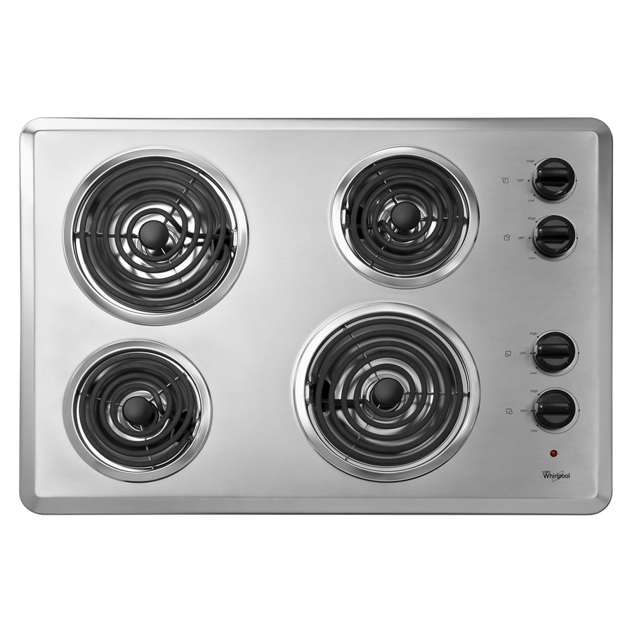 Shop Whirlpool Coil Electric Cooktop Stainless Steel