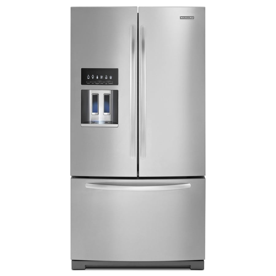 KitchenAid 28.6-cu ft French Door Refrigerator with Ice Maker (Monochromatic Stainless Steel)