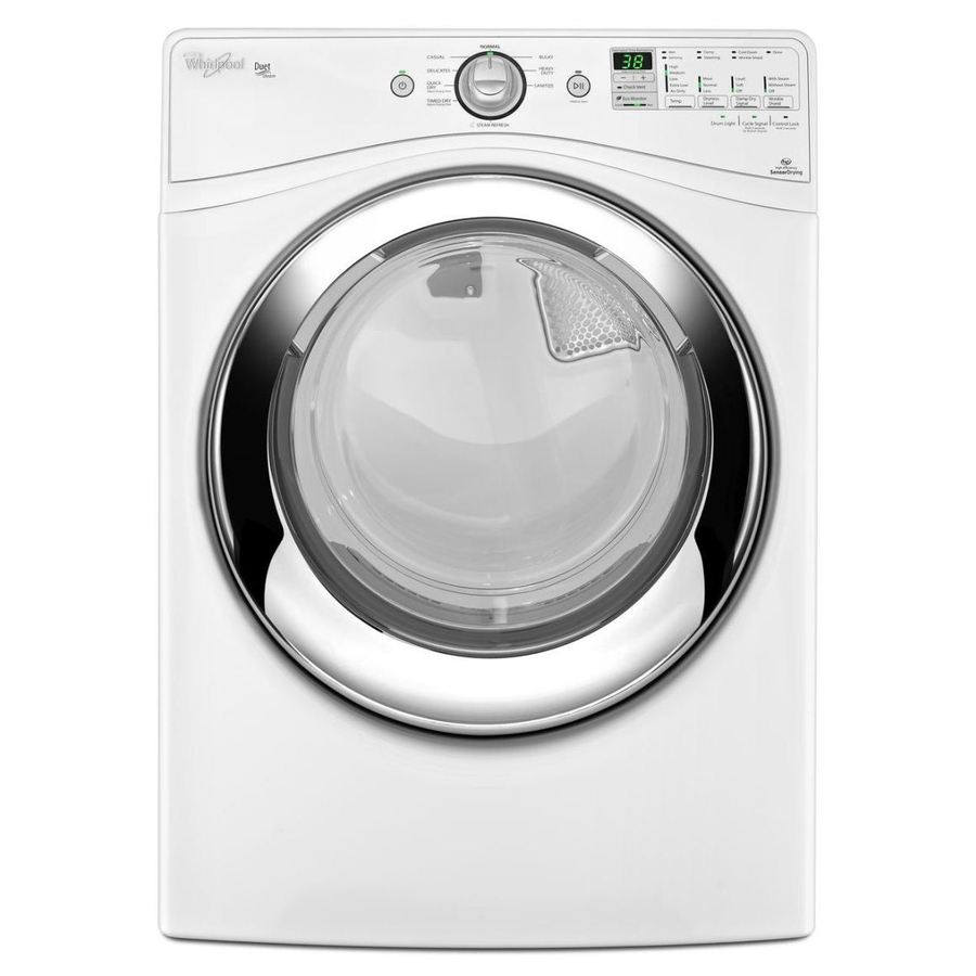 Whirlpool Duet 7.4-cu ft Stackable Electric Dryer with Steam Cycle (White)