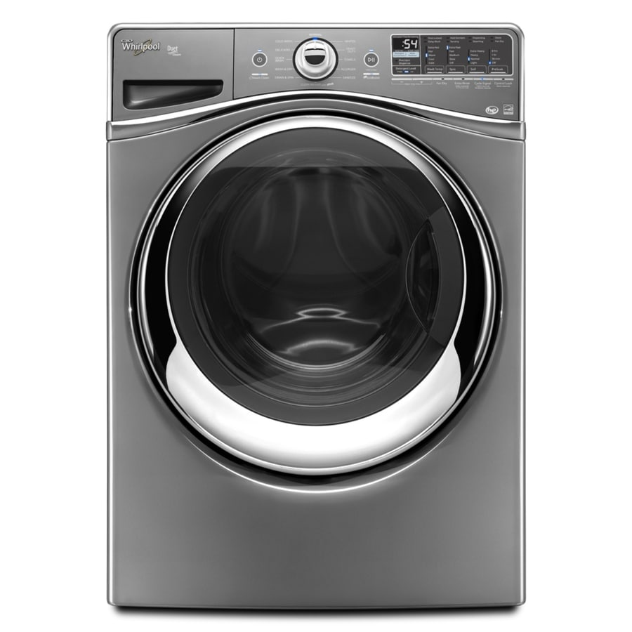 Whirlpool Duet 4.3-cu ft High-Efficiency Stackable Front-Load Washer with Steam Cycle (Chrome)
