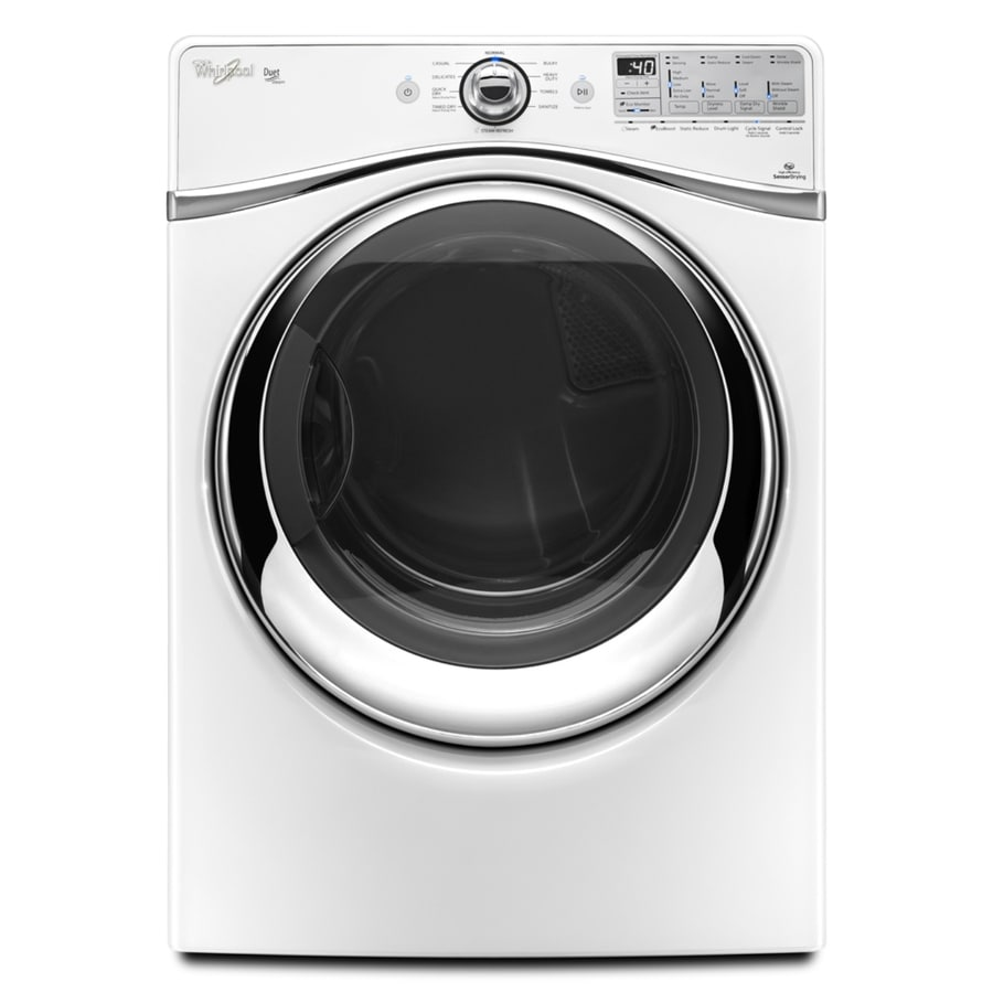 Whirlpool Duet 7.4-cu ft Stackable Gas Dryer with Steam Cycle (White)