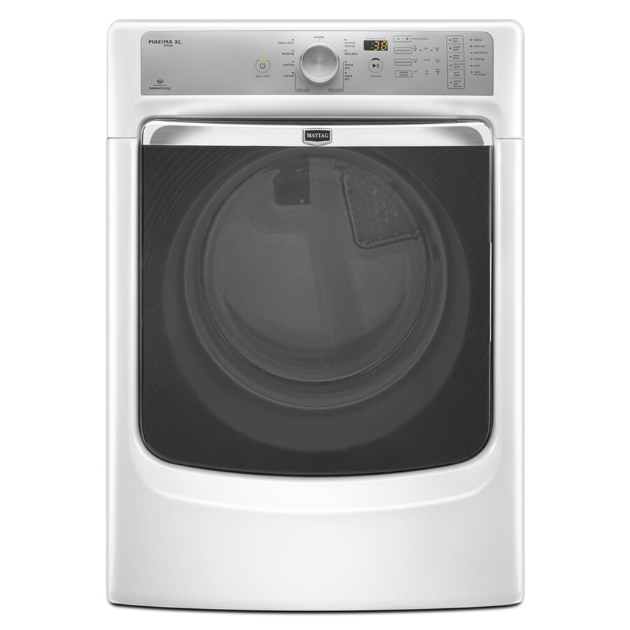 Maytag Maxima XL 7.4-cu ft Stackable Gas Dryer (White)