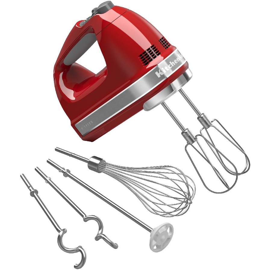 KitchenAid 61-in Cord 9-Speed Empire red Hand Mixer