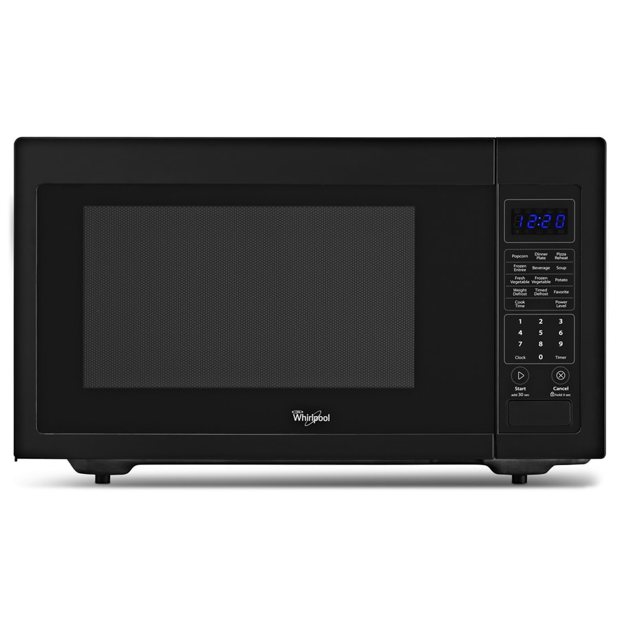 Whirlpool 1.6-cu ft 1,200-Watt Countertop Microwave (Black)