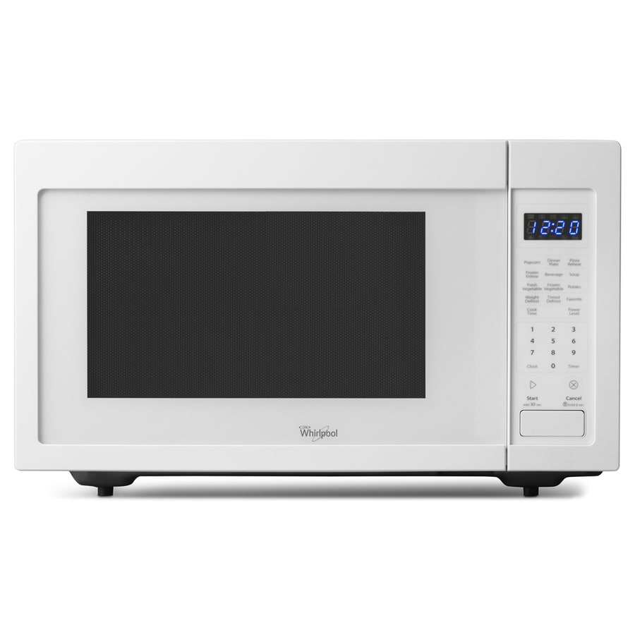 Whirlpool 1.6-cu ft 1,200-Watt Countertop Microwave (White)