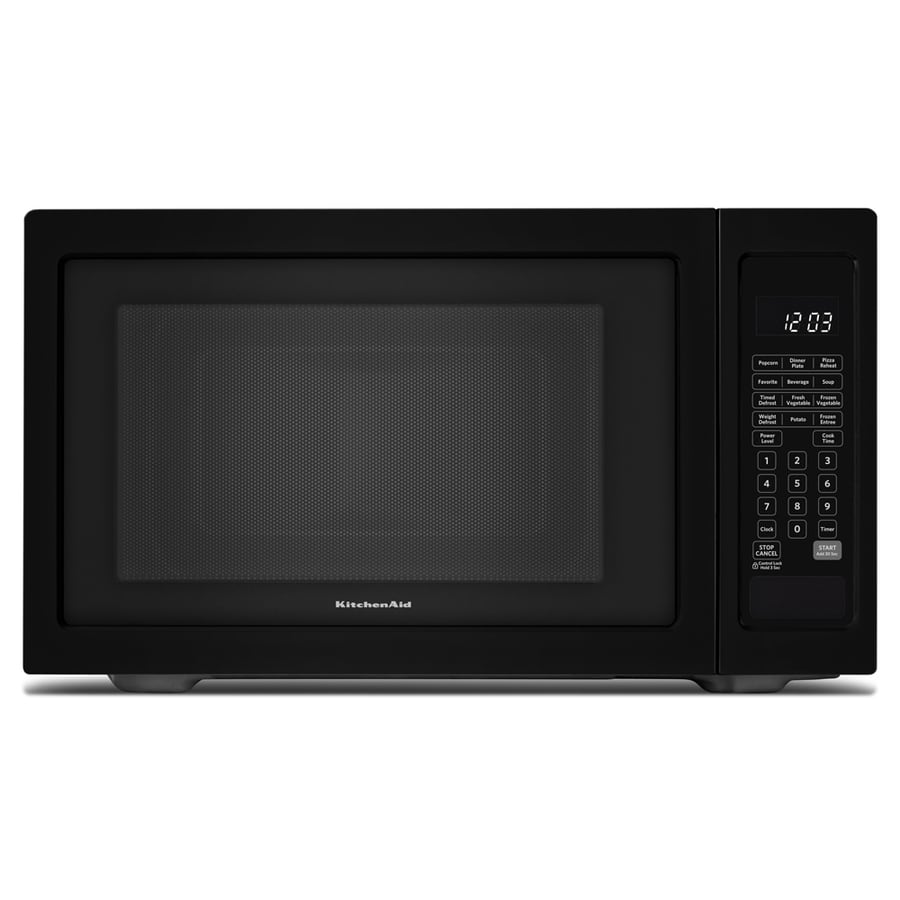 KitchenAid 1.6-cu ft 1,200-Watt Countertop Microwave (Black)