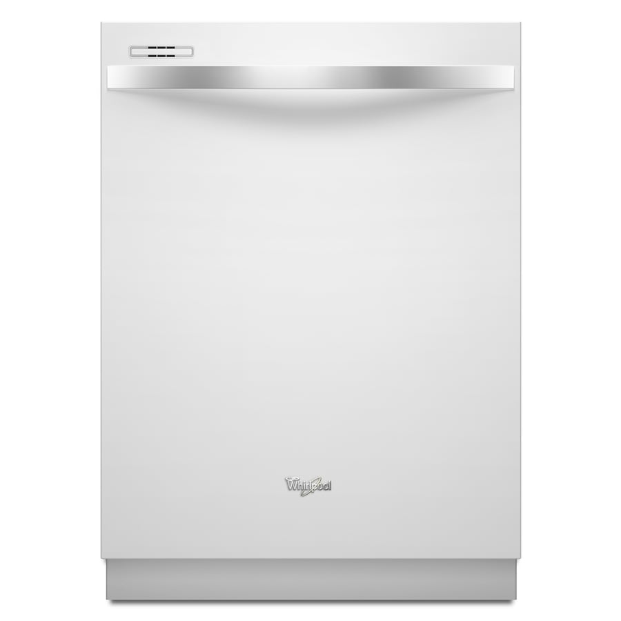 Whirlpool Gold Ice 55-Decibel Built-In Dishwasher (White) (Common: 24-in; Actual: 23.875-in)