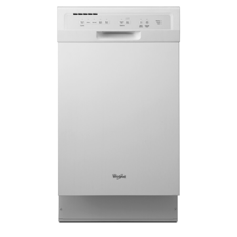 Whirlpool 57-Decibel Built-in Dishwasher (White) (Common: 18-in; Actual: 18-in) ENERGY STAR