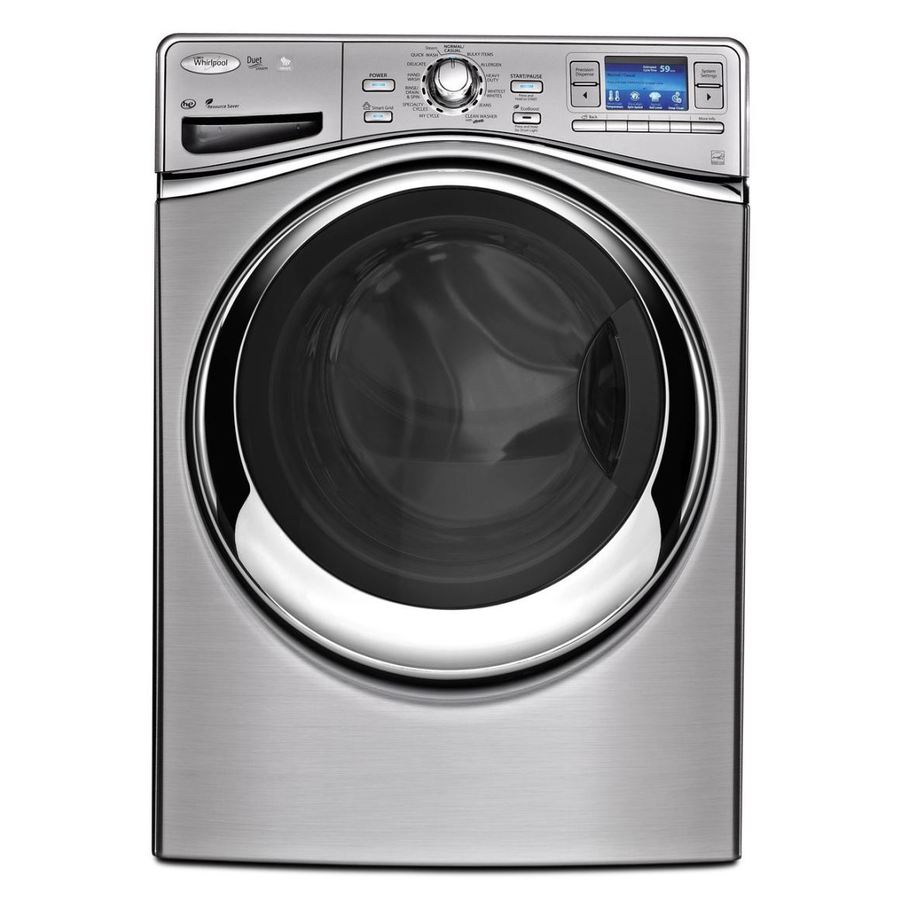 Whirlpool 4.3-cu ft High-Efficiency Stackable Front-Load Washer with Steam Cycle (Stainless Look) ENERGY STAR