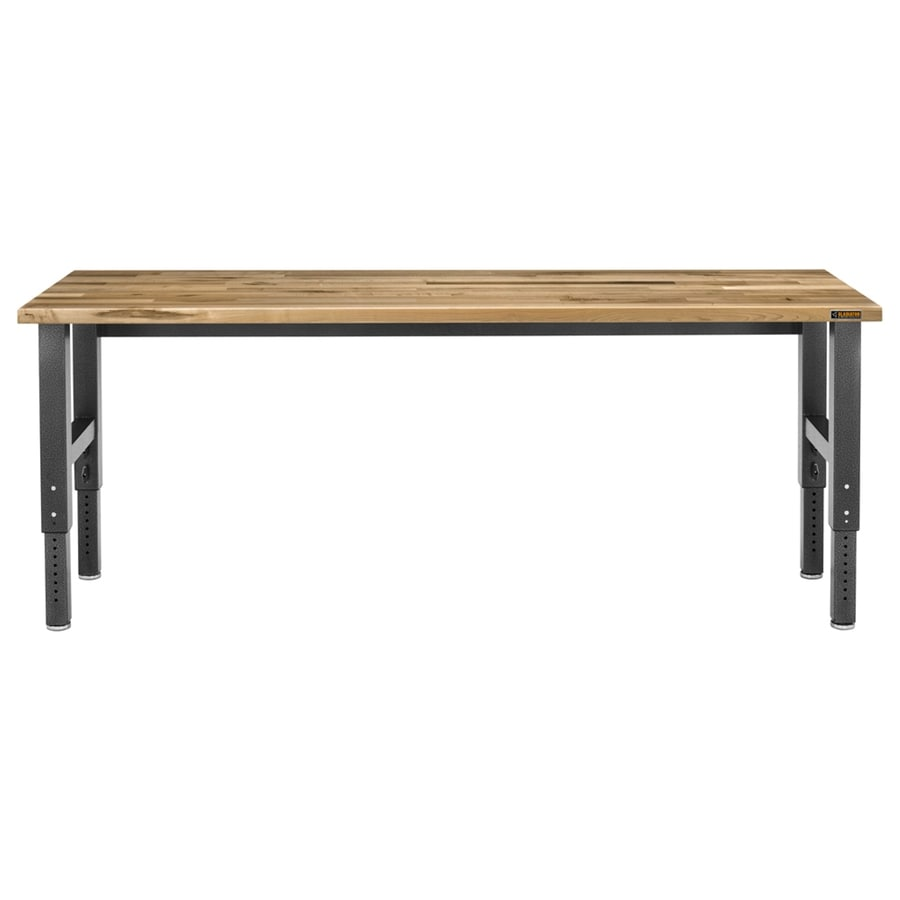 Gladiator Maple 96-in W x 42-in H Adjustable Wood Work Bench