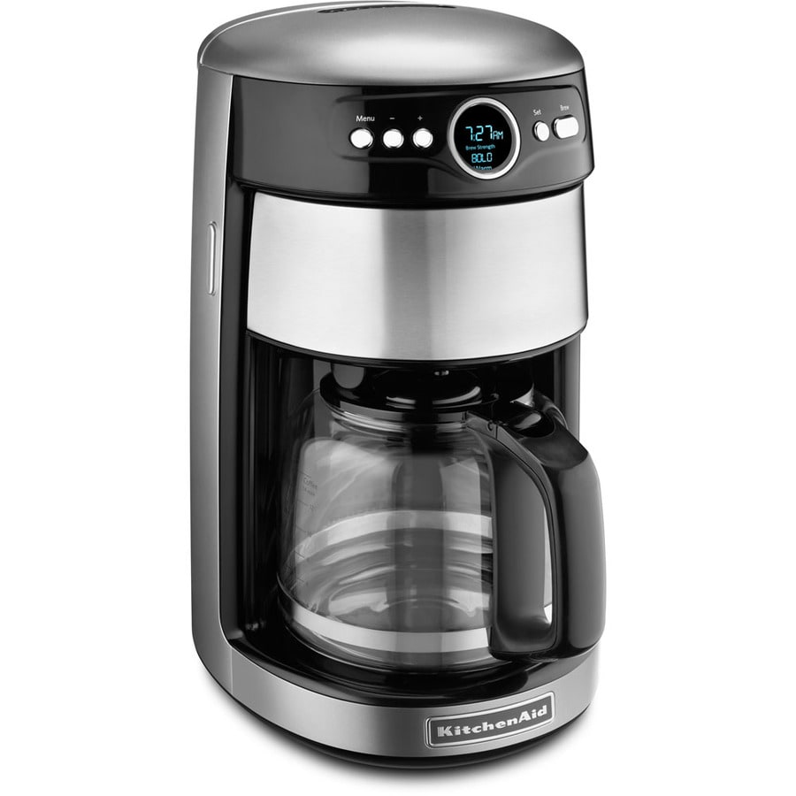 KitchenAid 14-Cup Contour Silver Programmable Coffee Maker