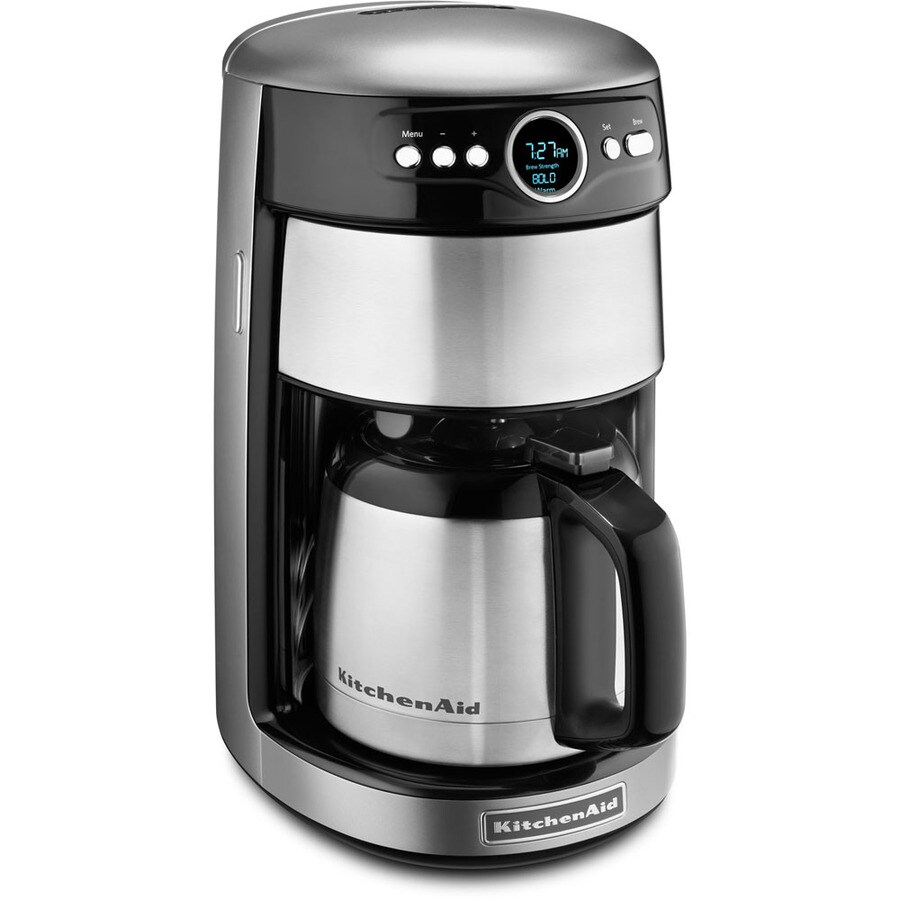 KitchenAid 12-Cup Contour Silver Programmable Coffee Maker