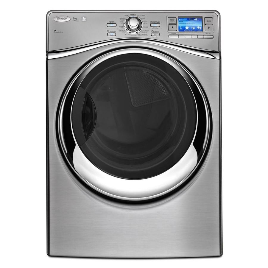 Whirlpool 7.4-cu ft Stackable Electric Dryer with Steam Cycles (Silver)