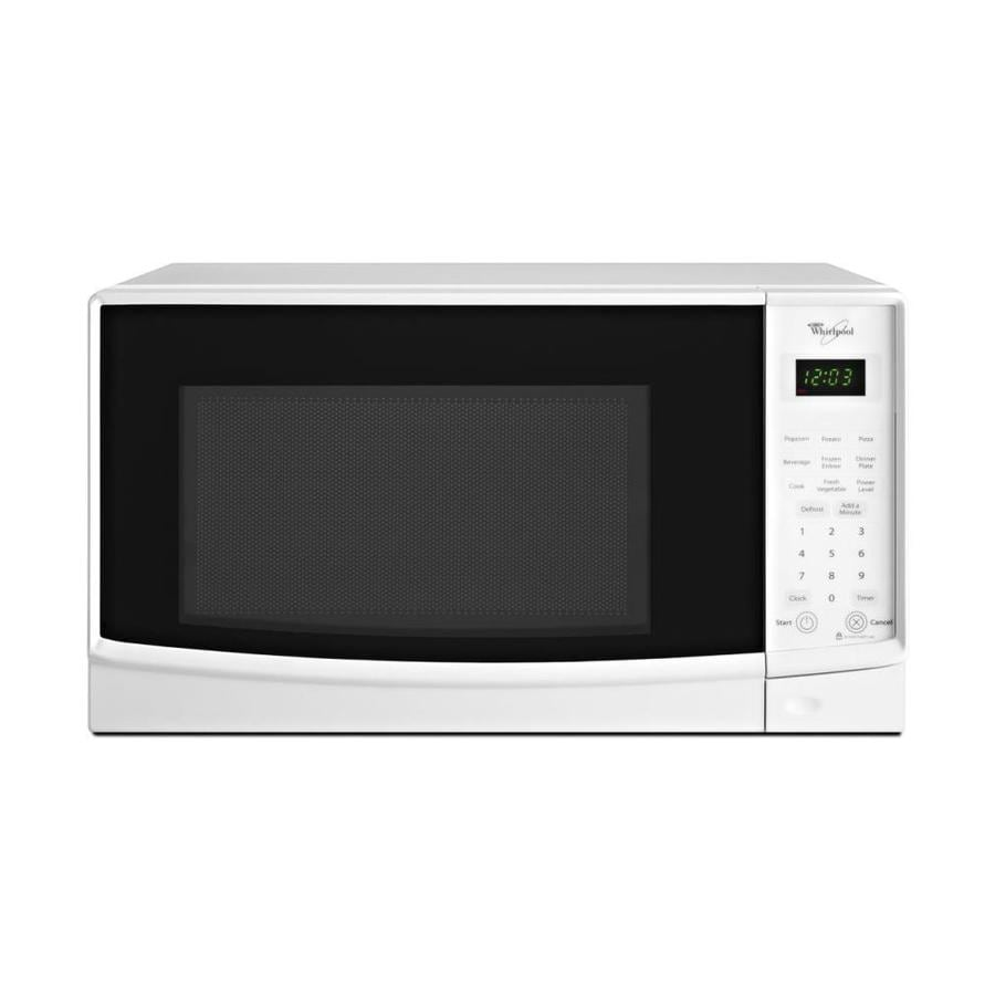 Whirlpool 0 7 Cu Ft 700 Watt Countertop Microwave White