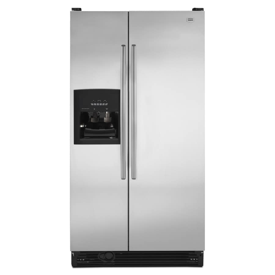 Maytag 25.1 cu ft Side-by-Side Refrigerator (Stainless Steel) ENERGY STAR