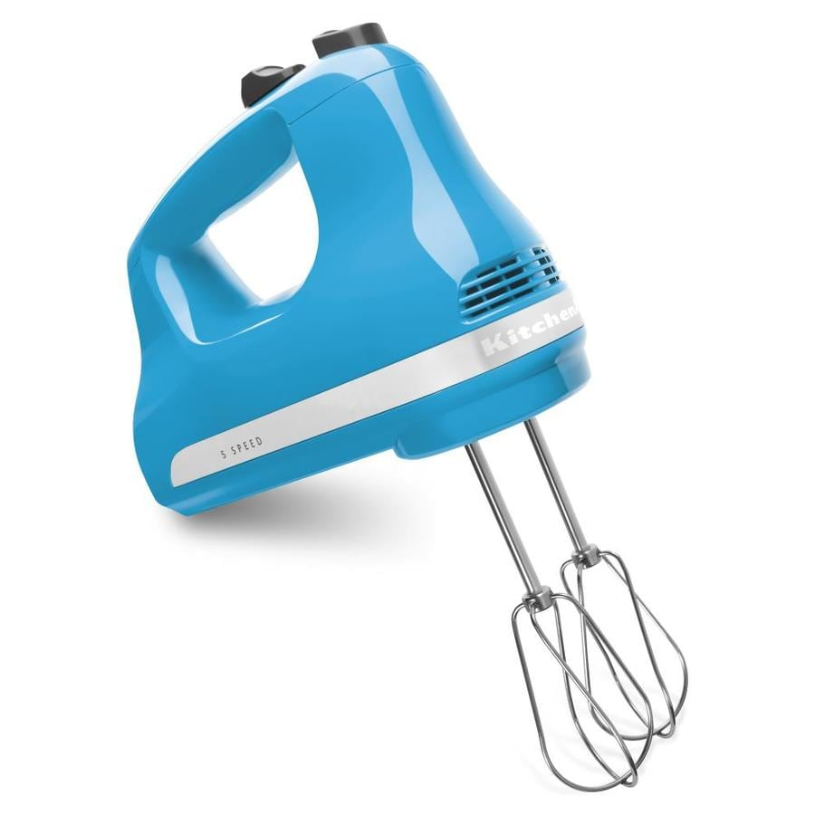 KitchenAid 78 In Cord 5 Speed Crystal Blue Hand Mixer