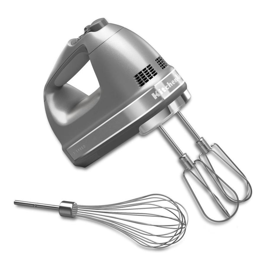 KitchenAid 62-in Cord 7-Speed Contour Silver Hand Mixer