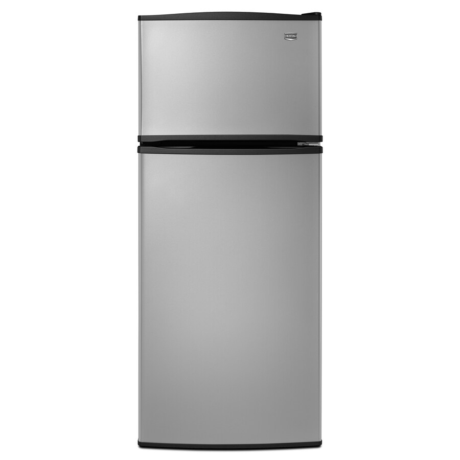 maytag 175cu ft topfreezer with single ice maker stainless steel