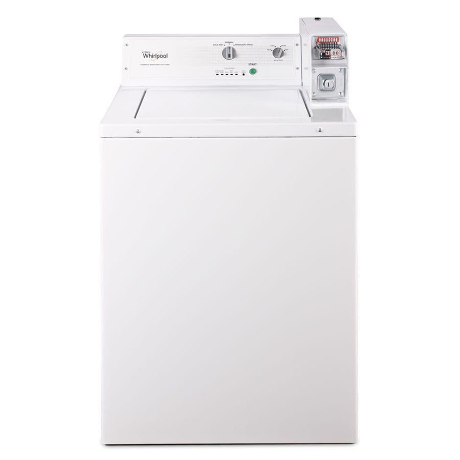 Whirlpool 2.9-cu ft Coin-Operated Top Load Commercial Washer (White)