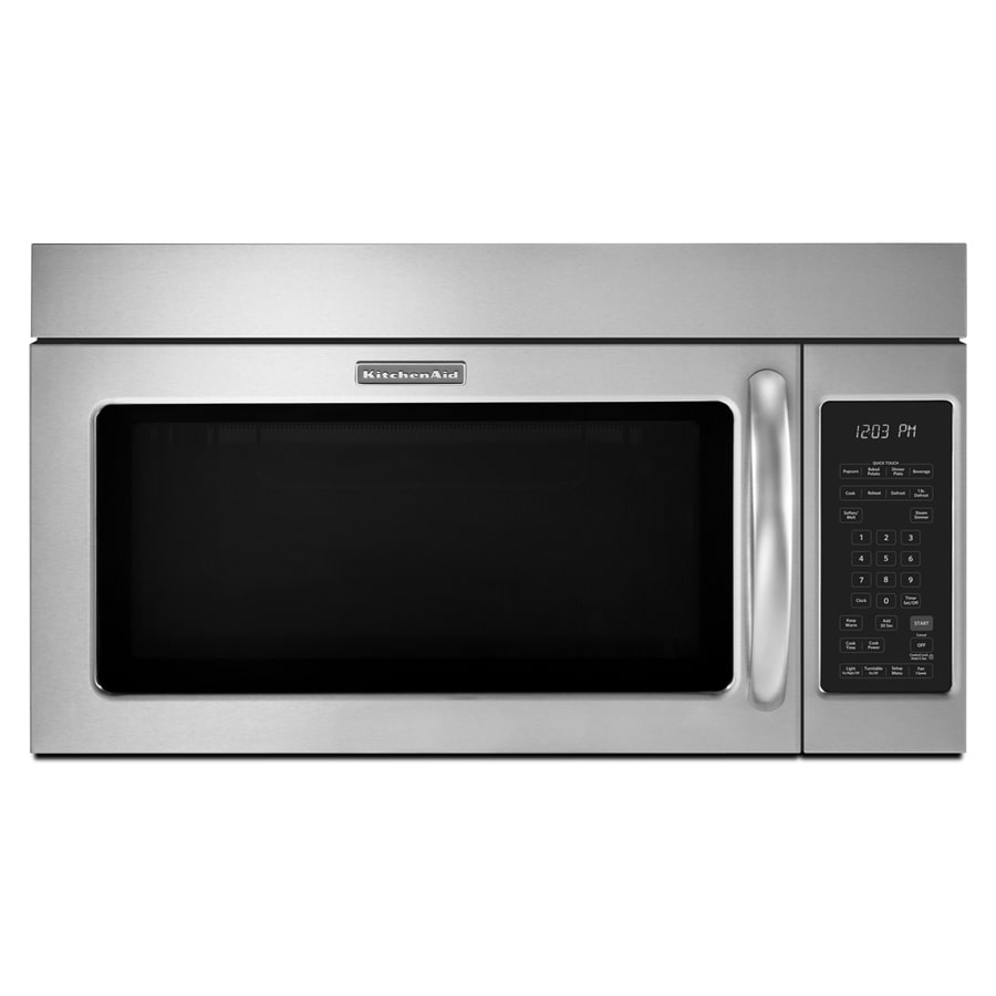 Kitchenaid 2 Cu Ft Over The Range Microwave With Sensor Cooking Controls Stainless Steel Common 30 In Actual 29 87
