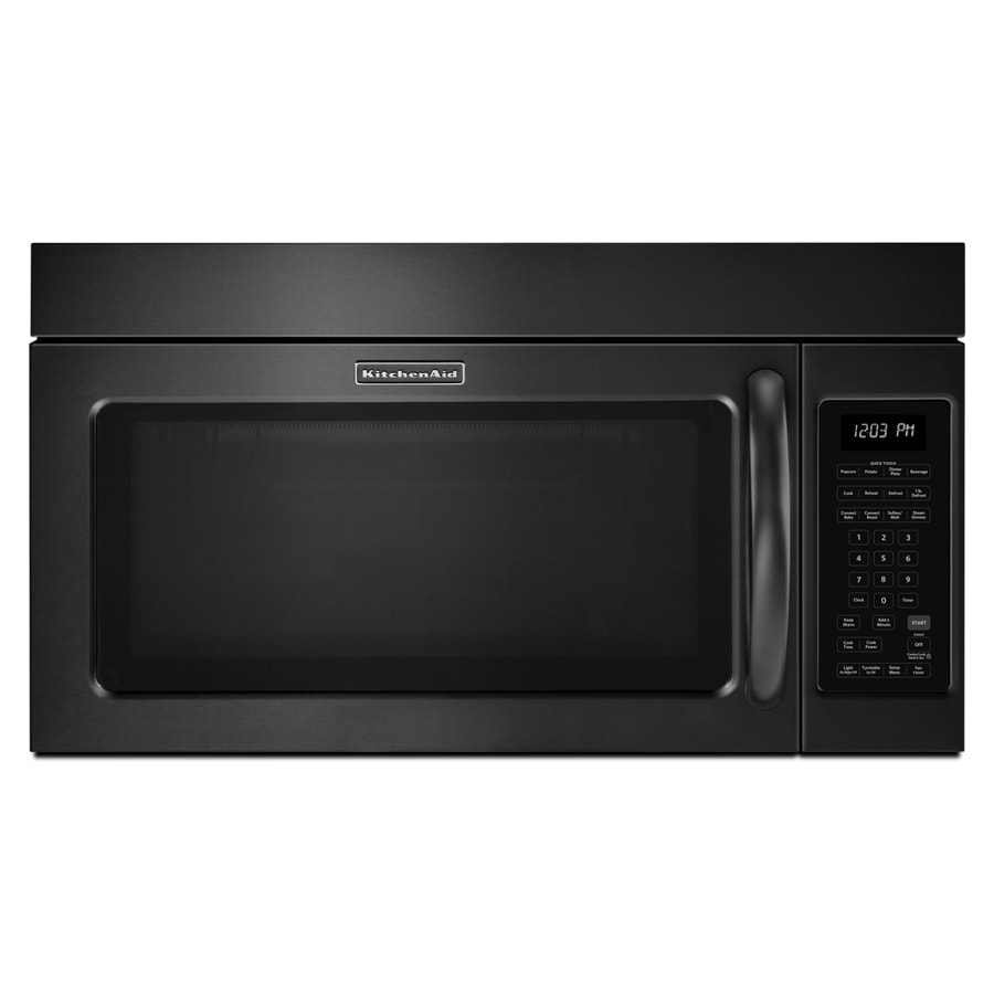 KitchenAid 1.8-cu ft Over-the-Range Convection Microwave with Sensor Cooking Controls (Black) (Common: 30-in; Actual: 29.875-in)