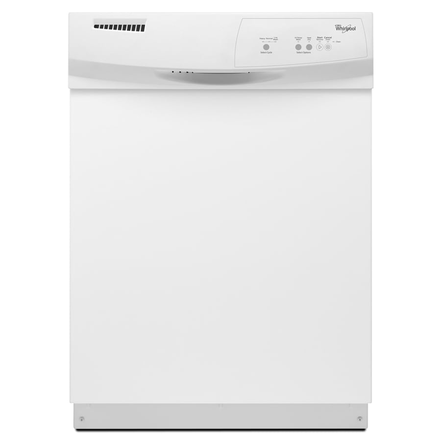 Whirlpool 63-Decibel Built-In Dishwasher (White) (Common: 24-in; Actual: 23.875-in)