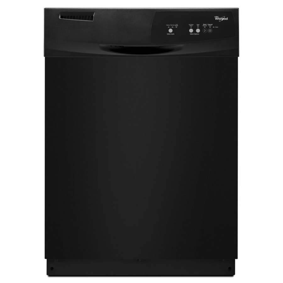 Whirlpool 63-Decibel Built-In Dishwasher (Black) (Common: 24-in; Actual: 23.875-in)