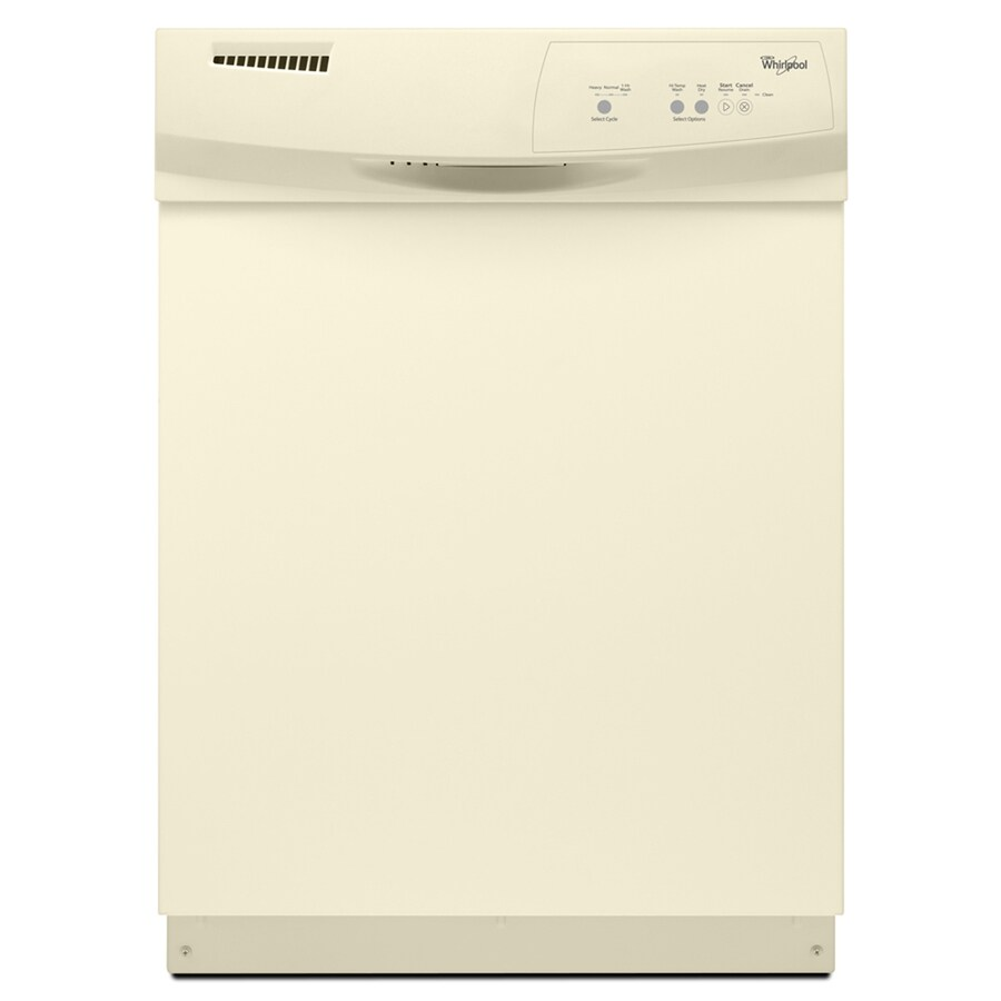 Whirlpool 63-Decibel Built-In Dishwasher (Biscuit) (Common: 24-in; Actual: 23.875-in)